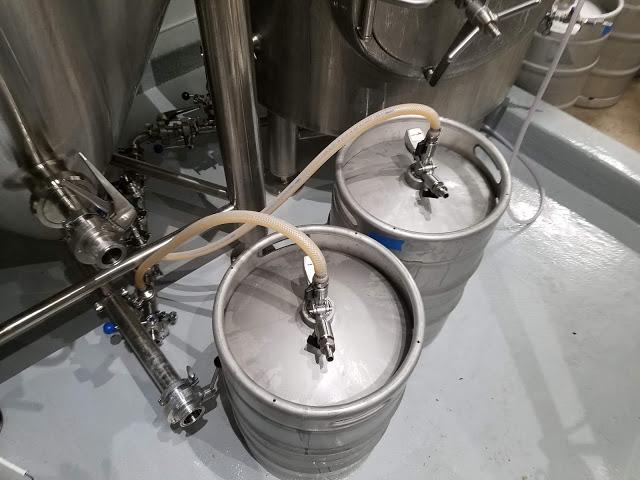 Kegging pale ale.